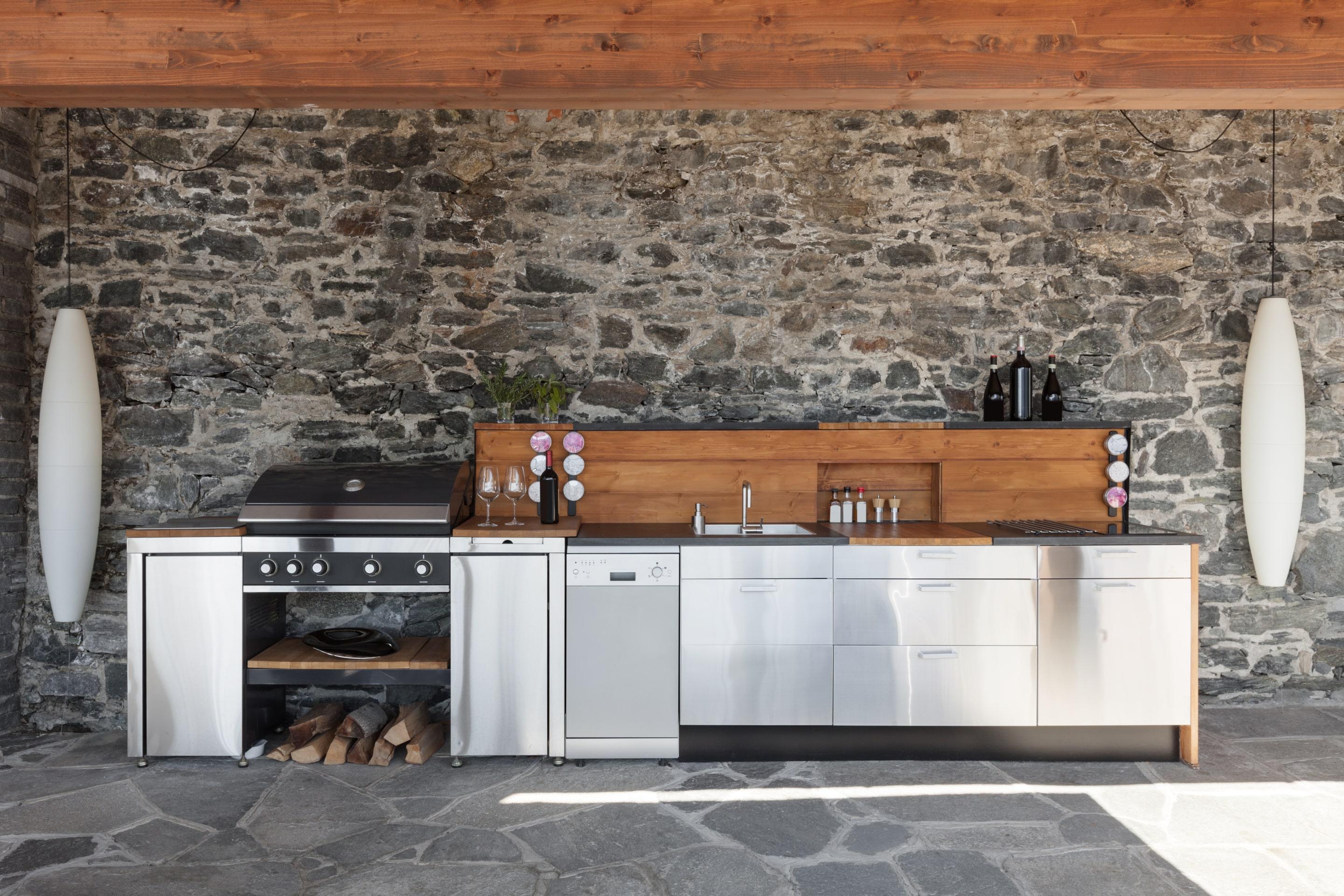 Evier Pour Cuisine D Été conseils d'aménagement d'une cuisine extérieure
