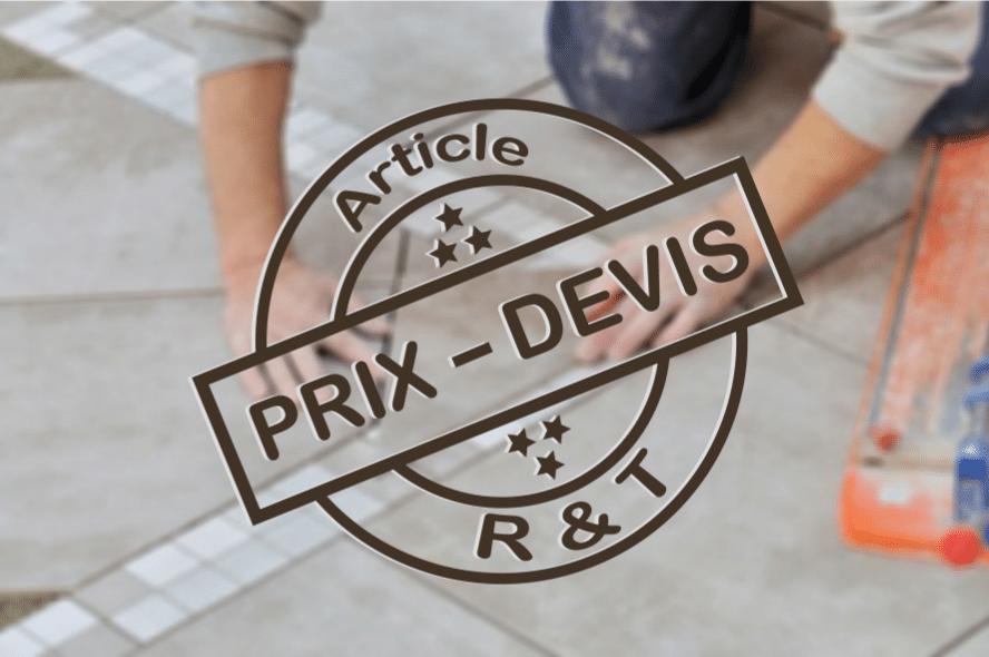 Prix De La Pose Et Renovation De Carrelage Et Exemple De Devis
